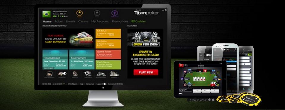 Мобильный и ПК клиенты Titan Poker.